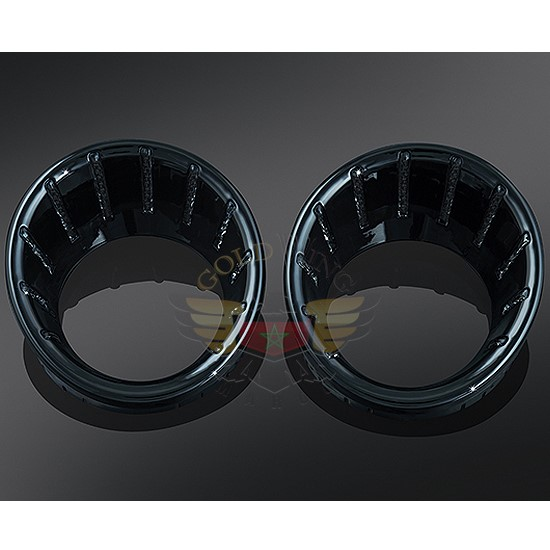 BLACK L.E.D. SPEEDO/TACH BEZELS BLUE 7288