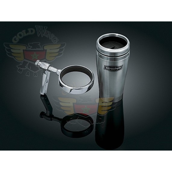 UNIVERSAL DRINK HOLDER W/STAINLESS MUG FOR CONTROL MOUNT