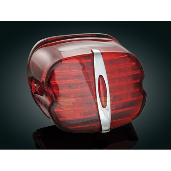 DELUXE LED TAILLIGHT, RED, WITH LIC LITE-DELUXE LED TAILLIGHT, RED, WITH LIC LITE