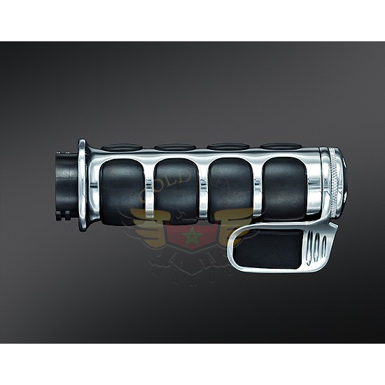 PREMIUM ISO-GRIP W/THROTTLE BOSS CHROME