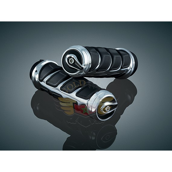 KINETIC GRIPS, CHROME 82-UP CBL THROTTLE 6350