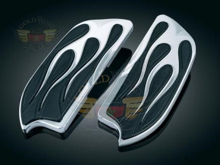 FLAMED FLOORBOARD COVERS FOR YAMAHA, KAWASAKI, SUZUKI, VICTORY