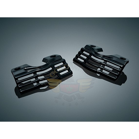 SLOTTED SPARK PLUG COVERS, GLOSS BLACK 7243